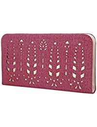 Style Villaz Women Purple Suede Leatherette Clutch