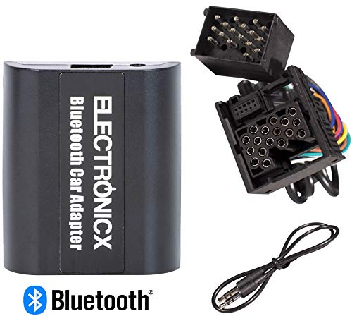 Electronicx BTA-BM1 Digitaler Musik-Adapter AUX Bluetooth Freisprecheinrichtung Rundpin CD-Wechsler passend für BMW, Mini Rover Bmw Z3 Stereo