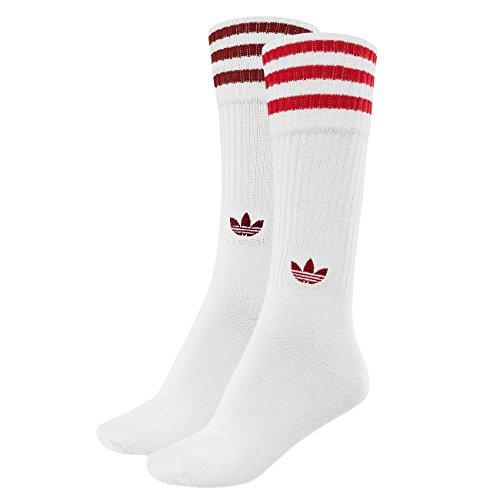 Crew Socken, White/Rust Red/Scarlet, 43-46 (Weiße Und Rote Socken)