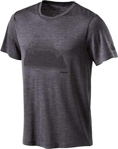 McKINLEY H-T-Shirt Korrum SCHWARZ/GRÜN Lime - L