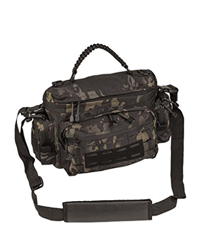 Mil-Tec Tattico Paracord Borsa Piccola Urban Grey Multitarn Nero
