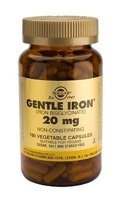 Solgar-Gentle Iron® 20mg: 180 Vegetable Capsules by Solgar Vitamins and Herbs