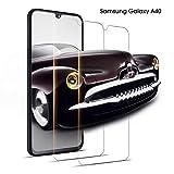 DOSNTO Samsung Galaxy A40 Verre trempé, [2 Pack] HD 3D Touch Premium Film Protection écran, 9H Dureté, sans Bulles, Anti-Rayures, Ultra Clair Protection Ecran Verre Trempé pour Samsung A40