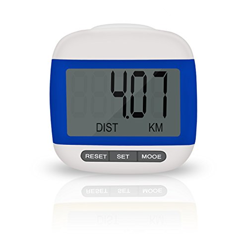 Incutex podómetro cuentacalorías, podómetro con pantalla LDC, step counter, podómetro...
