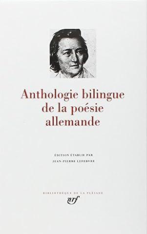 Anthologie bilingue de la poésie