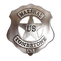 Denix U.S. Marshall Badge Tombstone Sheriff Star Cowboy Western
