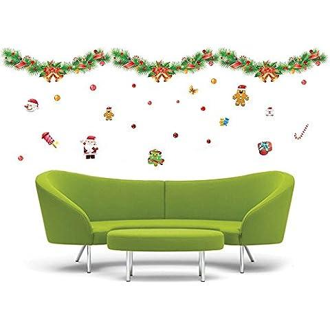 ufengke® Buon Natale Colorato Nastro Natale Campana