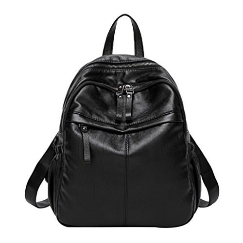 00e942d778ad3 NiSeng Damen Rucksack Casual Mode Backpack Schulrucksäcke Tasche Daypack  Reiserucksack Schwarz