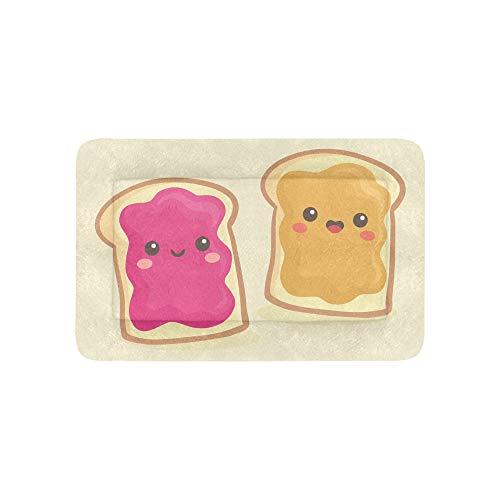 Pane tostato simpatico cartone animato colazione grande stampato biancheria letto morbido cane letti per divano per cuccia e gatti mobili tappetino caviglia pad cuscino regalo interno 36 x 23 pollici