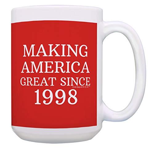Geburtstagsgeschenke für alle Herstellung, American Great Since 1998, Geschenk, Kaffeetasse 15 oz Red