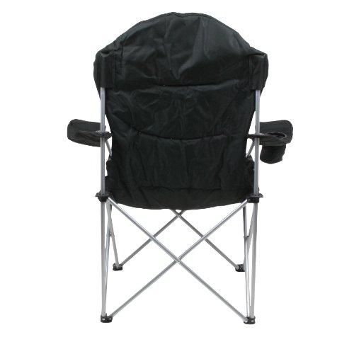 10T Lightboy - Faltbarer XXL Camping-Stuhl mobiler Hochlehner Maxi Polster-Sitzfläche Getränkehalter - 6