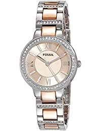(Renewed) Fossil Virginia Analog Pink Dial Womens Watch - ES3405#CR