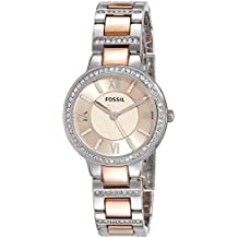 (Certified Refurbished) Fossil Virginia Analog Pink Dial Women's Watch - ES3405#CR