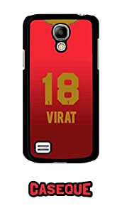 Caseque IPL Royal Challengers Banglore Virat Jersey Back Shell Case Cover For Samsung Galaxy S4 Mini