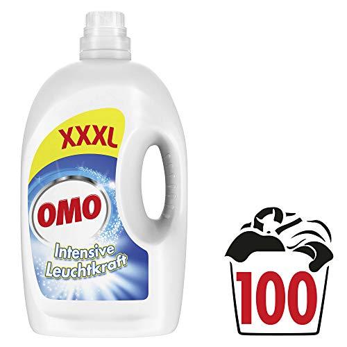 Omo Flüssigwaschmittel für strahlende und hygienische Sauberkeit Intensive Leuchtkraft XXXL mit Leuchtkraft-Booster 100 WL 1 Stück