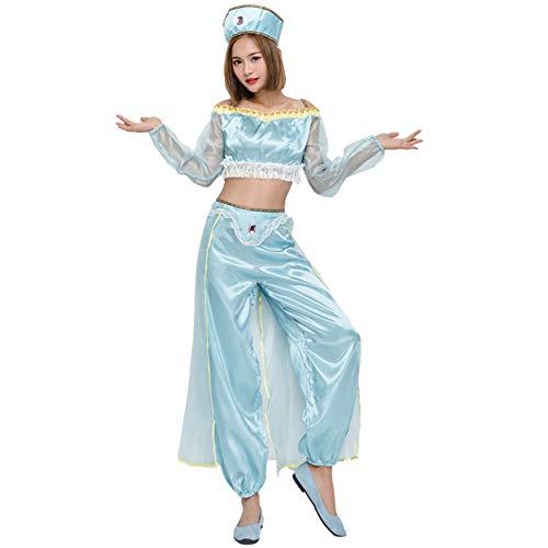 Arabian Nights Bauchtänzerin Kostüm - CAQQ Prinzessin Jasmine Genie Bauchtänzerin Arabian
