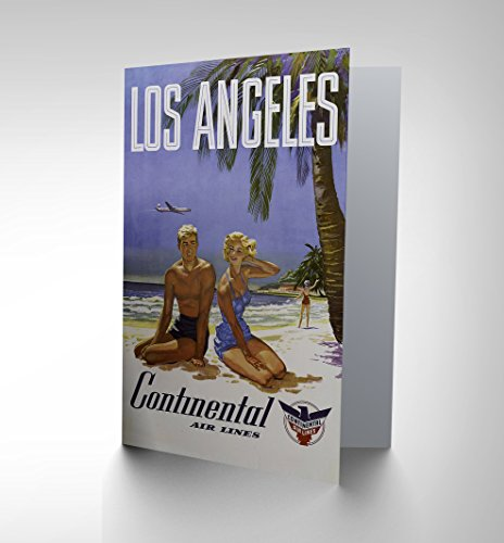 travel-la-los-angeles-continental-airline-beach-tropical-greetings-card-cp1305