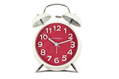 Metronic Vintage - Despertador con Buzzer electrónico, Color Rosa