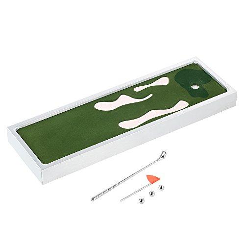 Hykis Mini-Tisch Spiel Top-Desktop Golf Unterhaltung Freizeit Lustige Club Spielwerkzeugtabelle Golf-Spiel