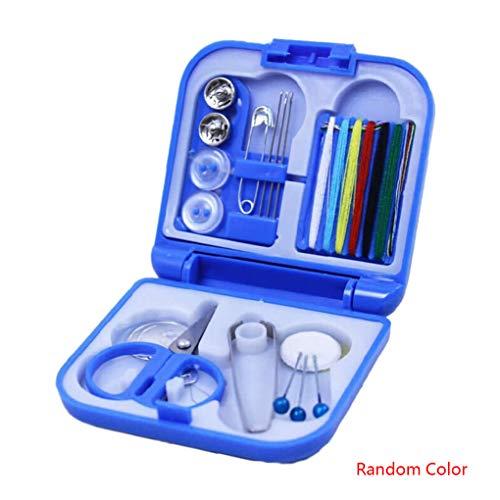 Vkospy Zufällige Farbe Tragbare Home Reise Kunststoff Nähsets Nähnadeln Themen Box Set Storage Box Nähen Werkzeuge (Rv Storage Box)