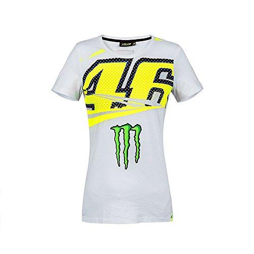 05f451d21 VALENTINO ROSSI Tee Shirt Vr46 Monza Monster Energy Team MotoGP Officiel -  Femme - Blanc - Taille S