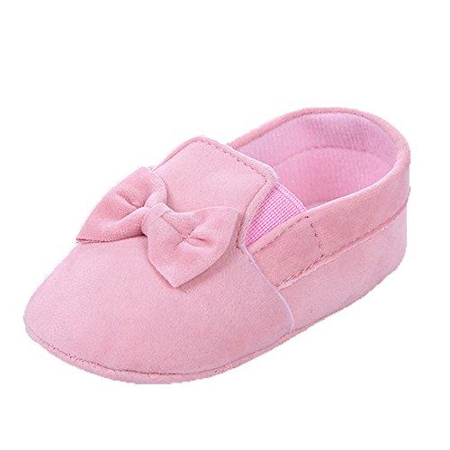 Baby Mädchen Weiche Sohle Bowknot Rosa Mokassins Größe 6-12 Monate Rosa