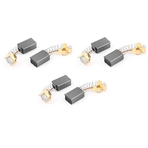 DealMux 6 pièces de rechange de moteur électrique Brosses carbone 16 mm x 11 mm x 7 mm