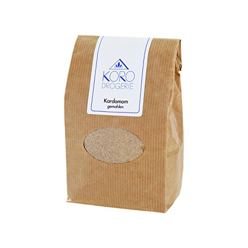 Kardamom Gemahlen ● Das Beliebte Gewürz ● Asiatische Indische Küche ● Top Qualität ● 250 g ● Vorteilspackung ● KoRo (Mokka-grüner Tee)