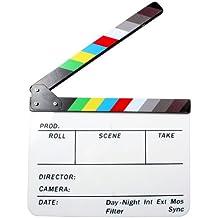 Andoer® Claqueta Plástica acrílica de Cine Seco y Borrado Director film clapboard (9.85x 11,8 pulgadas)