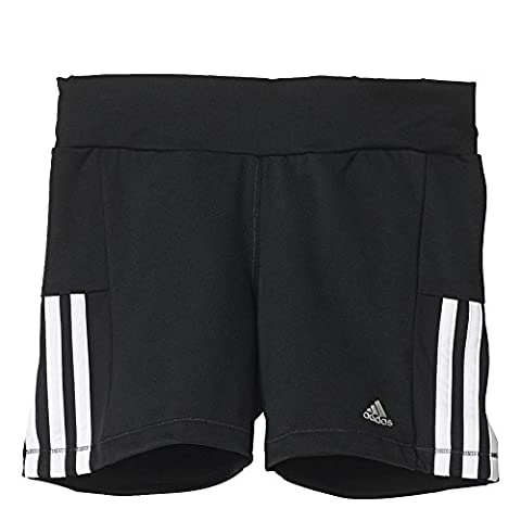 adidas Mädchen Hotpants Gear-Up Short Tights, Black/White, 128,