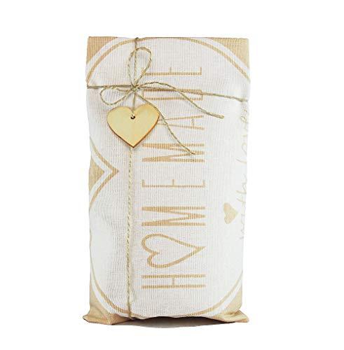 Geschenkset Geschirrtuch mit Bio-Brotbackmischung, Brot-backmischung Geschenk, Geschenke Set für Frauen oder Männer -