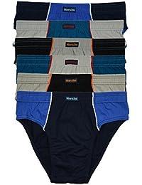 ► 6 ou 12 Sport Hommes - Slips en Combinaisons de couleurs Sans Intervention 100% Coton Lot de 12 Enregistrer Le Pack Slip Slip Pour Homme Garçons homme - M L XL 2XL 3XL 4XL