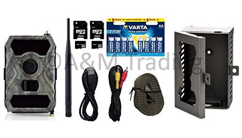 X-view Wildkamera Überwachungskamera Starterpaket GPRS-MAIL | Full HD I 12MP I IR 940nm black LEDs I OVP