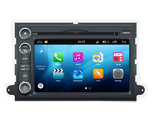 tem 6,2 Zoll Double Din Autoradio GPS für Ford 500 F150 Explorer Für Focus Edge Expedition Fusion mit Navigation Radio Stereo DVD Bluetooth SD USB Touch Screen ()