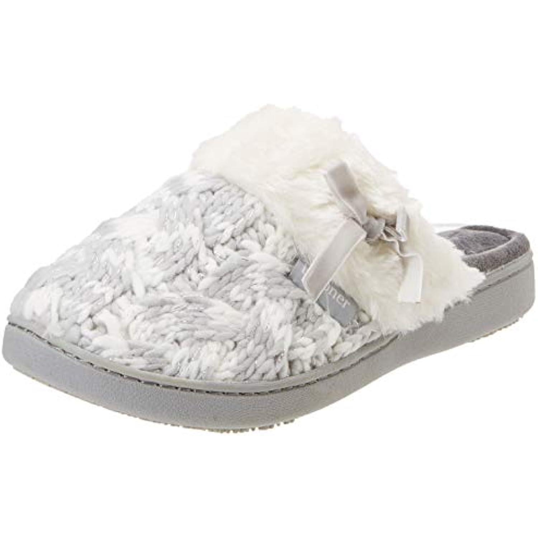 92d046551c0b4 Isotoner Knit Mule Faux Fur B079BVQN2D Cuff Slipper, Pantoufles Femme -  B079BVQN2D Fur - cc4a28