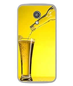 PrintVisa Beer Friends Forever High Gloss Designer Back Case Cover for Motorola Moto G2 :: Motorola Moto G (2nd Gen)