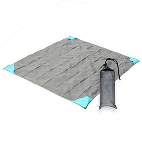 Pocket Wasserdichte Picknickdecke Ultraleichte Stranddecke Campingdecke mit Tasche Oxford-Tuch , 001 , 140*180cm