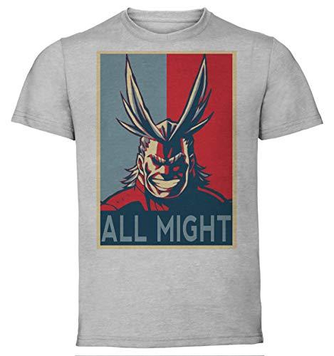 Instabuy My Hero Academia - All Might - Propaganda - T-Shirt - Unisex - Größen S-XL (Extra Large) -