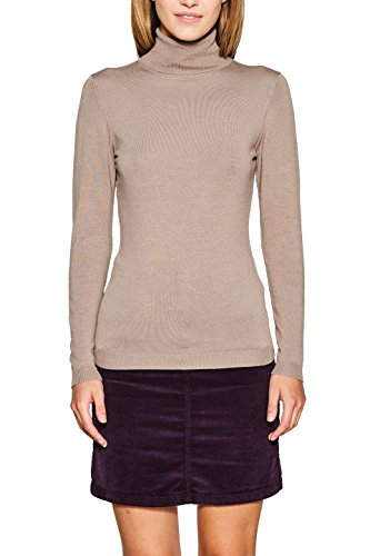 ESPRIT Damen 097EE1I035 Pullover, Braun (Taupe 5 244), Medium