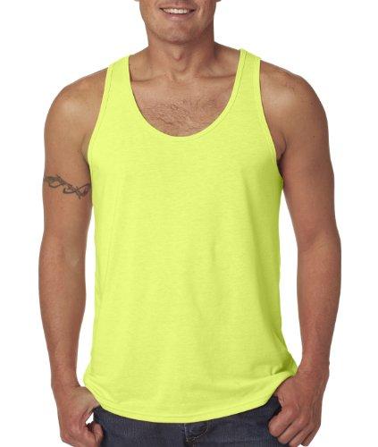 Bella Herren Asymmetrischer Top Grau Grau Neon Yellow