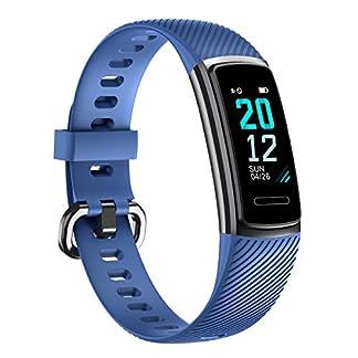 TOOBUR Pulsera de Actividad Inteligente, IP68 Impermeable Reloj Inteligente con Pulsómetro Podómetro Calorias Monitor de Sueño, Pulsera Actividad Smartwatch para Mujer Hombre Niños