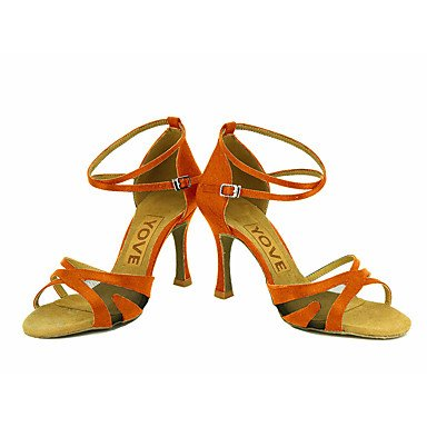 Chaussures De Danse-personnalisable-womens-latin-american Dance / Custom-heel-satin-satin-noir / Bleu / Jaune / Rose / Violet / Bronze Rouge