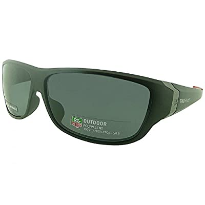 Tag Heuer Black Racer Sport Gafas De Sol With Red Tipped Arms And Anti-Glare Lens