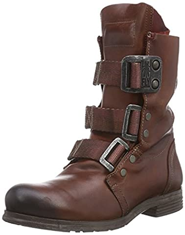 Fly London Stif, Damen Combat Boots, Rot (Brick 019), 38 EU