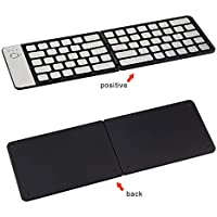 CAPTIANKN Teclado inalámbrico Ultra Delgado, aleación de Aluminio Impermeable, Adecuado para tabletas, teléfonos