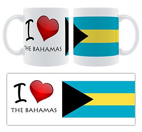 Face-On I Love (Heart) The Bahamas Keramik-Becher Bahama Becher