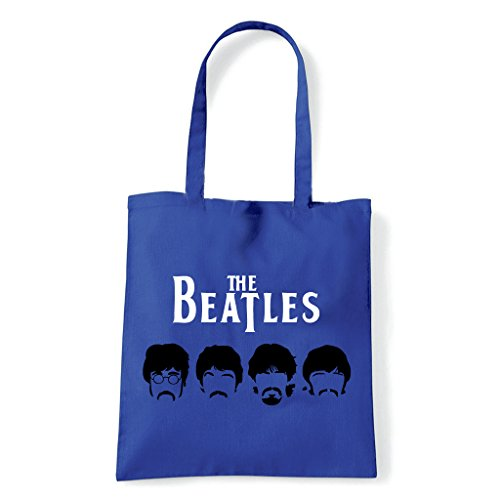Art T-shirt, Borsa Shoulder Beatles Mustache, Blu
