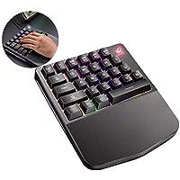 Free Wolf K11 K108 Teclado para Gaming Teclado Mecánico de una Sola Mano para PU Mobile Game Left Hand Small Keyboard