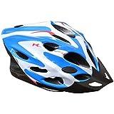 Cockatoo Professional Cycling / Skating Adjustable Helmet White/Royal Blue (Medium)