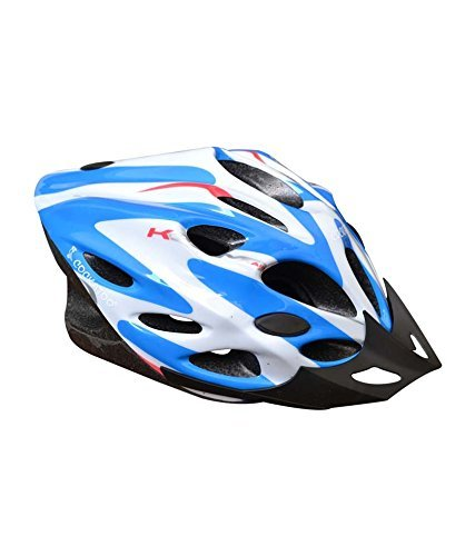 cockatoo professional cycling / skating adjustable helmet white/royal blue (medium) Cockatoo Professional Cycling / Skating Adjustable Helmet White/Royal Blue (Medium) 41BBGZpH4LL